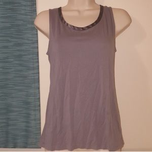 Purple gray banana republic tank top size S